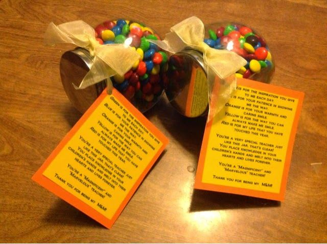 A quick easy and inexpensive end of year gift for your child's teachers!