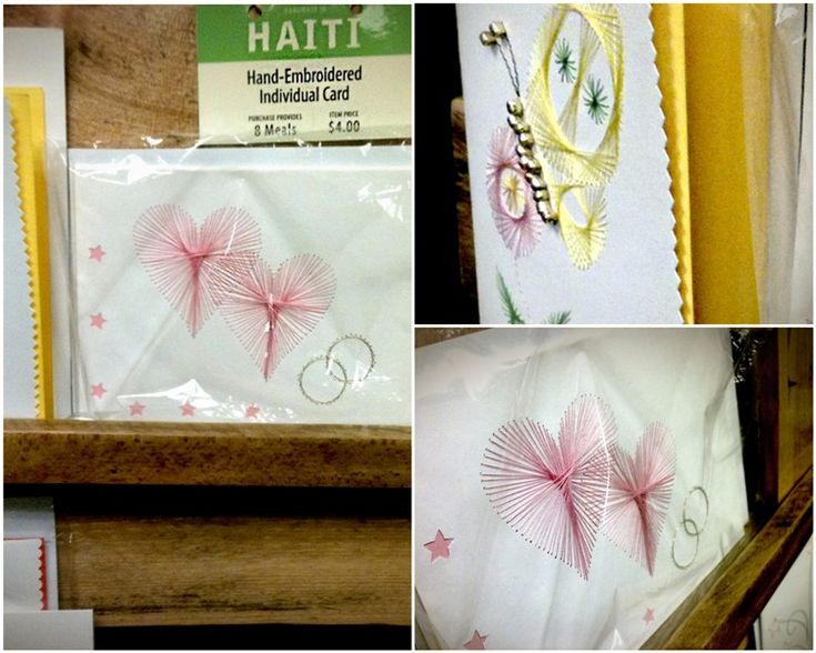 Hand-embroidered note cards made by women in Haiti. (Marketplace at Feed My Starving Children.Org)