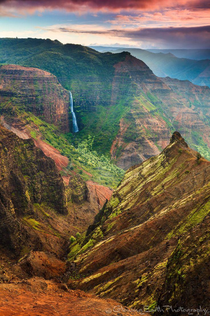 #travelgurus:    Waimea Canyon Kauai by Glowing Earth Photography    Explore Hawaiis top destinations at HobbyEarth