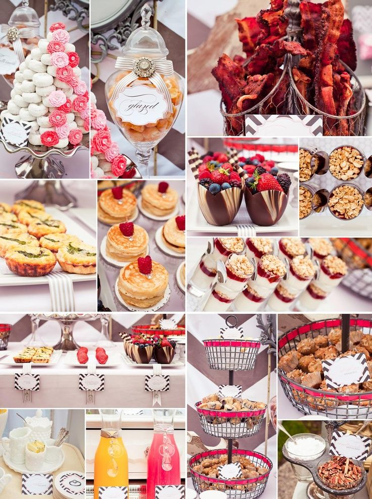 Stunning Vintage Modern Bridal Shower Pt 2 Food Ideas
