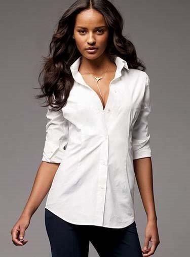 Женская белая классическая рубашка купить