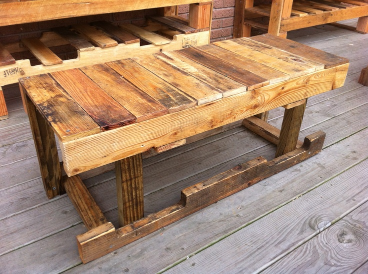 Pallet Furniture refurbished with linseed oil at bhk kafé