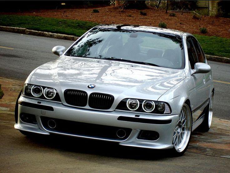 BMW E39 M5 sleek silver with polished rims