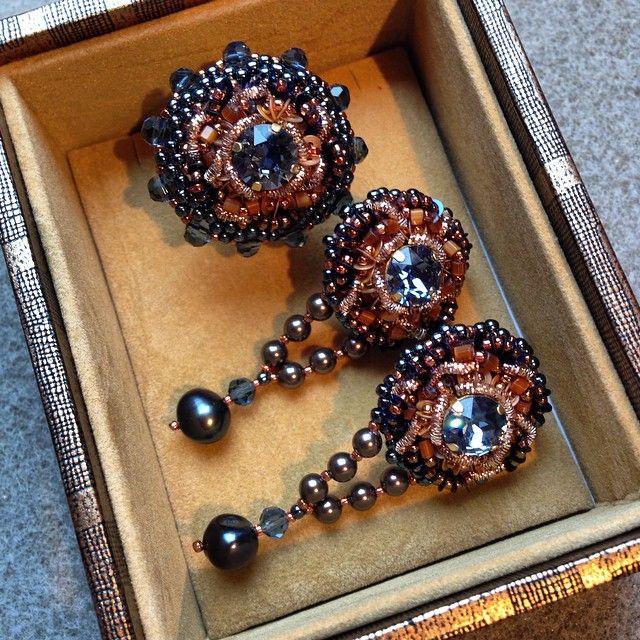 #jewelry #blubbery #schokolade  #collection #inga_marita #Swarovski #designer #accessories #кольцо #серьги #коллекция #creativa #dortmund