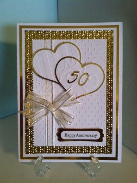 Golden anniversary by lauriejack - Cards and Paper Crafts at Splitcoaststampers