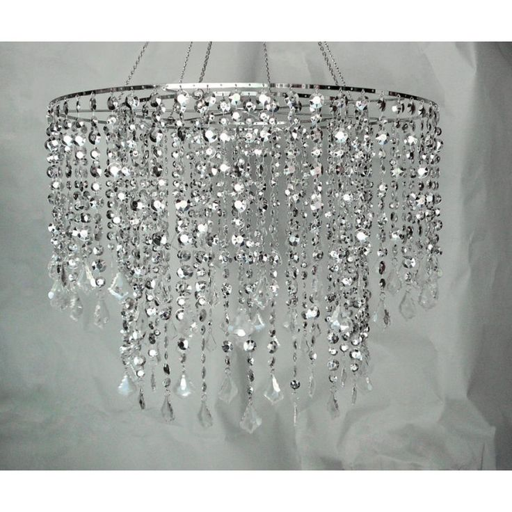 24 D Multi Diamond Cut Chandelier - Silver [HLL141824SIL Large Silver Chande] : Wholesale Wedding Supplies, Discount Wedding Favors, Party Favors, and Bulk Event Supplies