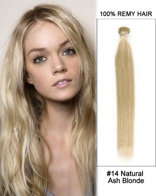 Wholesale 18 24 14 Natural Ash Blonde Straight 100 Remy Human Hair I Tip Pre Bonded Hair
