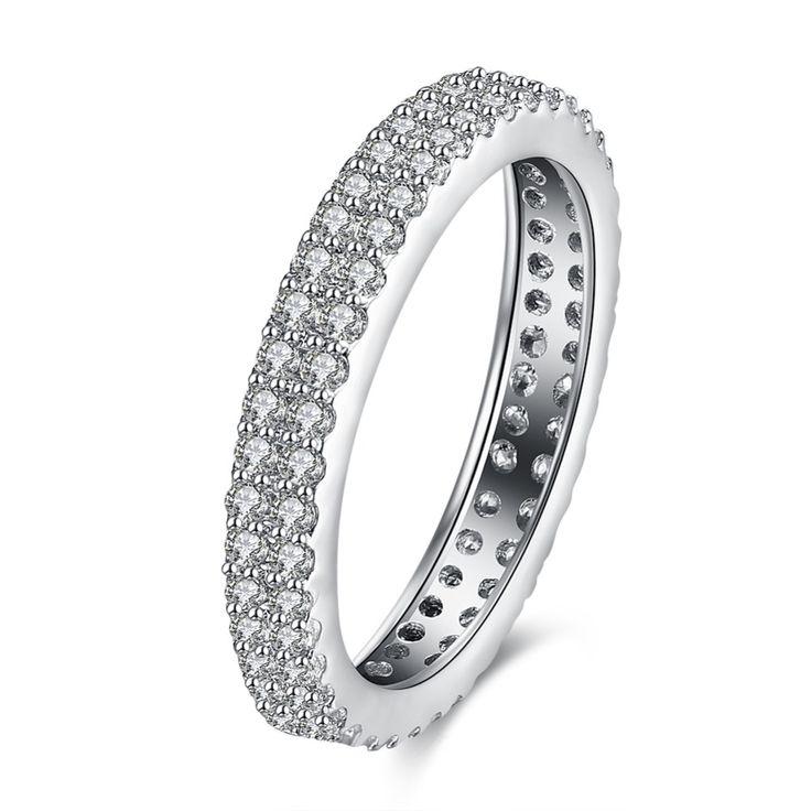 US $2.12 -- Топ Luxury Brand Женщины AAA Циркон Обручальные Кольца Серебряный цвет Мода ювелирные изделия Верхнего Качества Размер 6 #7 #8 #9 купить на AliExpress