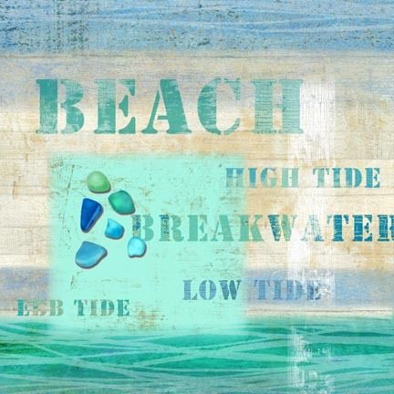 Perfect for just a touch of the sand and sea in your beach cottage!  Beach Words Coastal Art
