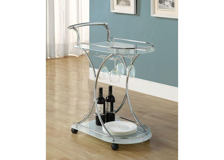 The most darling barcart! This could be paired with a new set of wine glasses or a bottle of white to give to your wife!