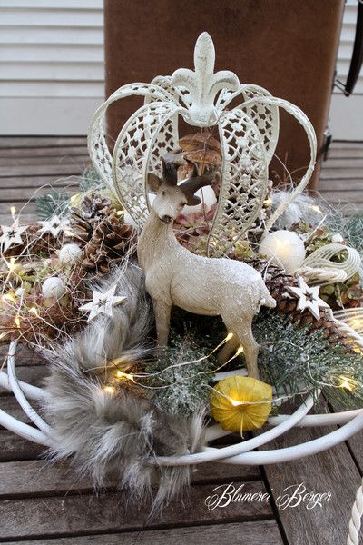 """Weihnachtsdeko - :::: Adventsdeko """" beleuchtet """" :::: - ein Designerstück von BlumereiBerger bei DaWanda"""