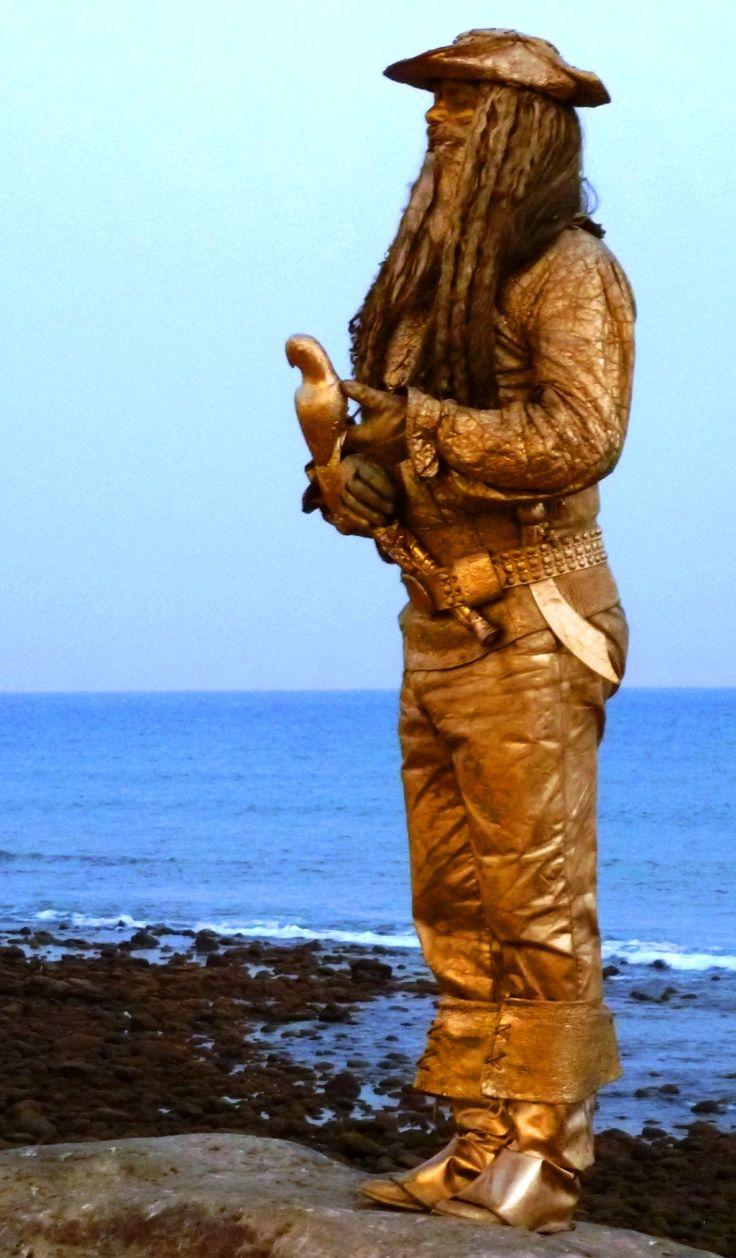 Pirate statue on Maspalomas promenade, Gran Canaria