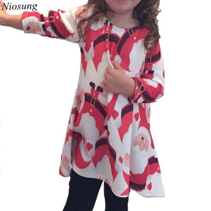 >> Click to Buy << Niosung Newborn Kids Baby Red Santa Claus Xmas Long Sleeve Swing Party Long Sleeve Dress Child Xmas Party Clothing  #Affiliate