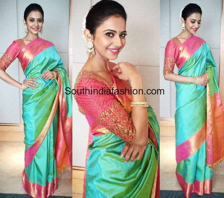 Rakul Preet Singh in Bhargavi Kunam Saree at Gali Janardhan Reddy Daughter's Wedding