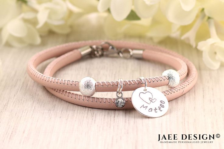 Anniversary gift for her - Personalized Bracelet - Leather jewelry - Birthday gift - SWAROVSKI ELEMENTS© - Hand stamped gift - Custom made by Jaeedesign on Etsy https://www.etsy.com/listing/515496836/anniversary-gift-for-her-personalized