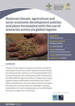 Scenario-guided policy planning is making headway in seven countries| CCAFS: CGIAR research program on Climate Change, Agriculture and Food Security