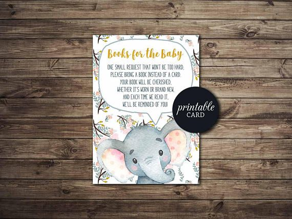 Bring a Book Request Card PRINTABLE Baby Shower Book request