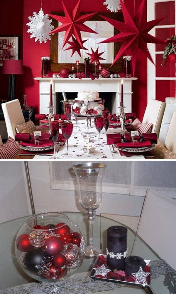 mejores 83 imágenes de decoración navideña. mesa, comedor. en
