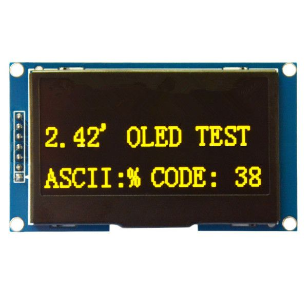 White / Blue / Yellow 2.42 Inch OLED 12864 LCD Display SPI Serial Port Screen Module For Arduino. Yesterday's price: US $49.98 (40.60 EUR). Today's price: US $31.49 (25.58 EUR). Discount: 37%.