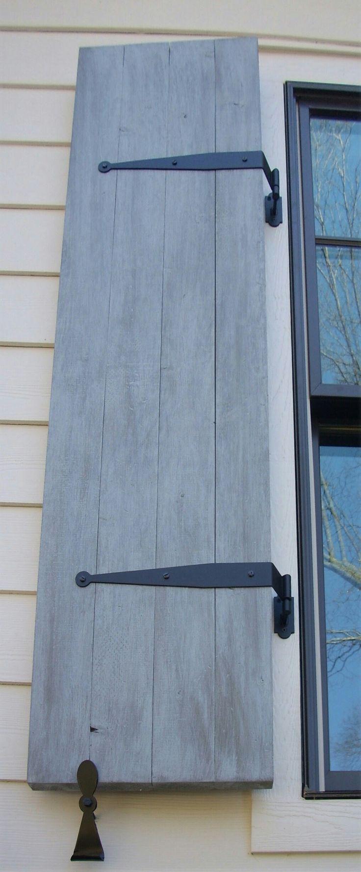 Wooden Exterior Shutters Beautiful Home Design