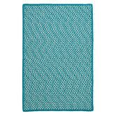 Found it at Wayfair - Outdoor Houndstooth Tweed Turquoise Rug