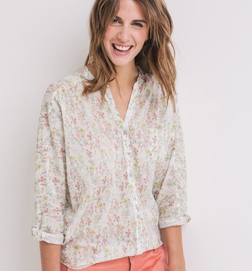 Koszula damska kolorowy nadruk - Promod