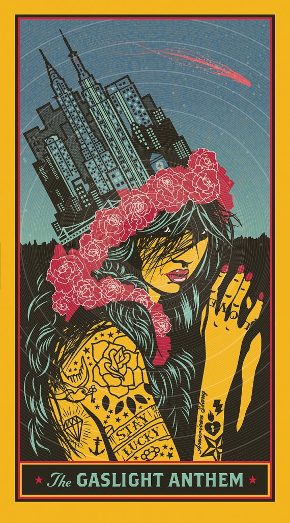 The Gaslight Anthem - Sold Out Art Print 2010 - Queen of Lower Chelsea