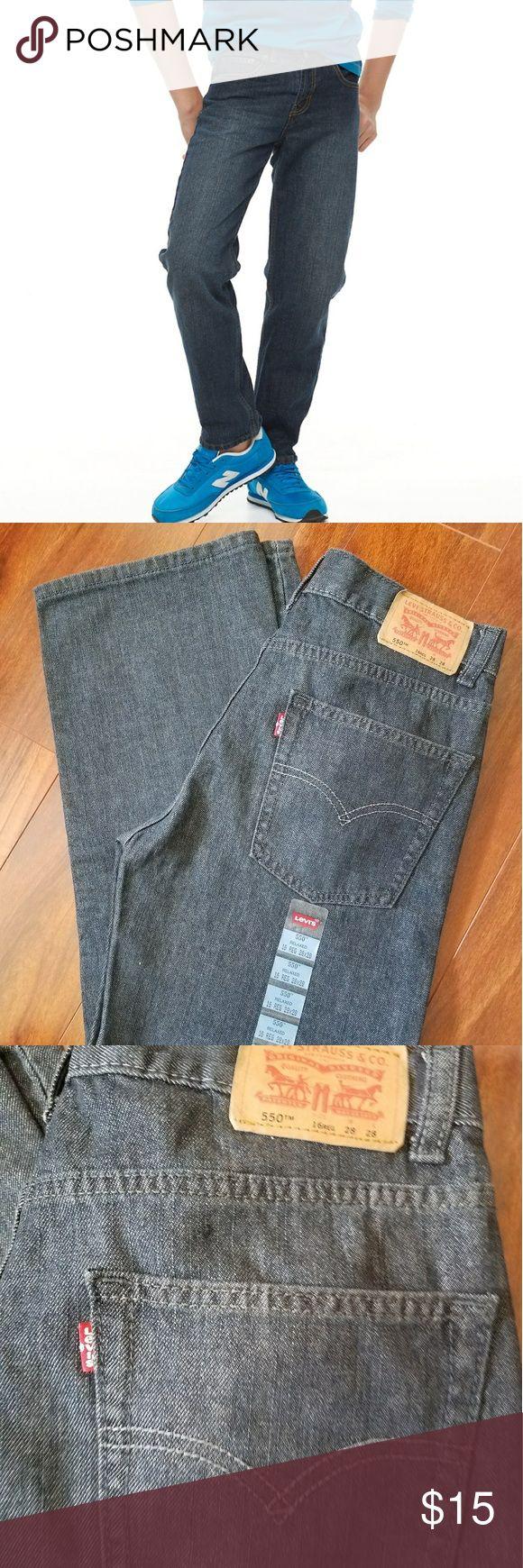 NWT Boys Levi's 550 Relaxed Jeans NWT boys medium-dark wash Levi jeans. Size  16 regular. Waist 28 Length 28. Levi's Bottoms Jeans