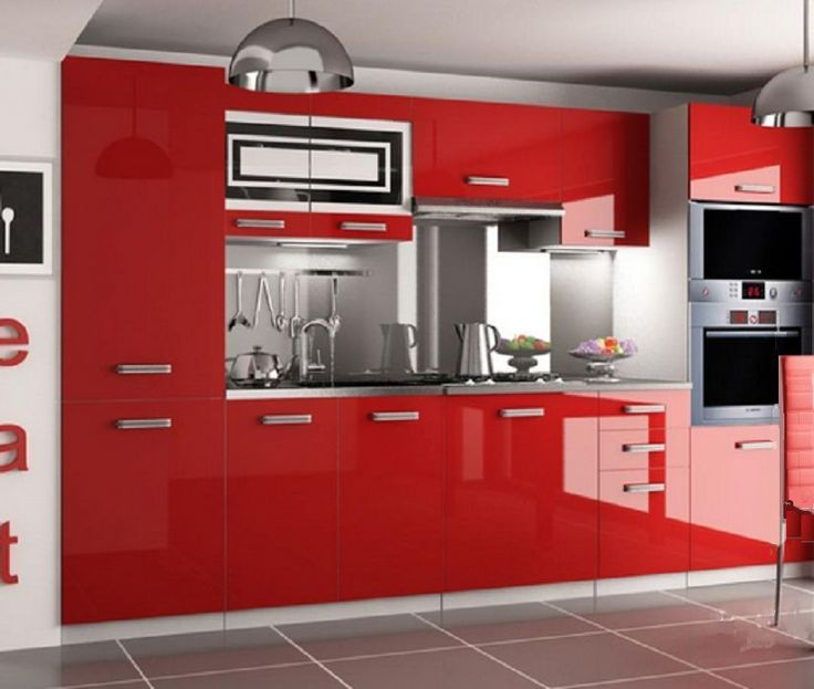 Cheap Kitchen Units/cabinets High Gloss . Complete Set 300 Cm,8 Units Brand