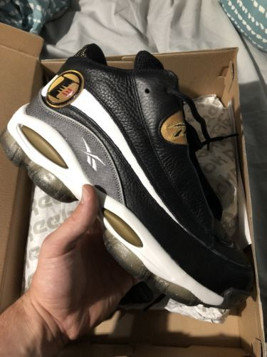 762457b5e4c Details about Reebok The Answer VII Iverson Retro Vintage Black ...