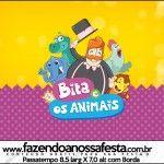Rótulo Passatempo  Bita e os Animais: