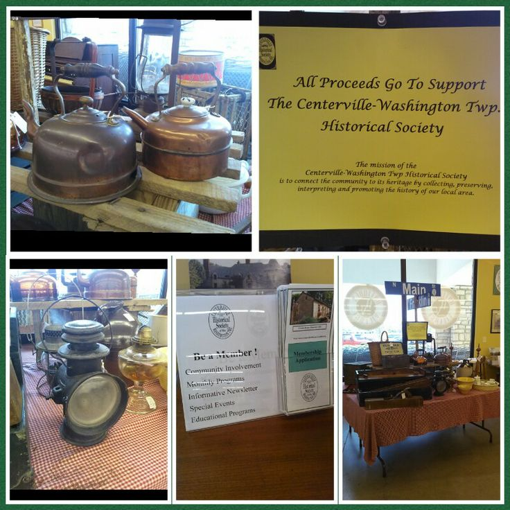Check out the Centerville-Washington Township Historical Society table here at the Village!