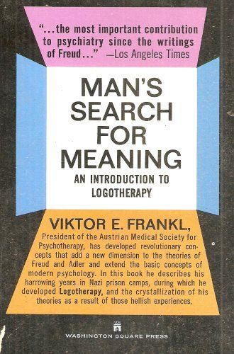 viktor e frankls logotherapy essay You are responsible for writing a final paper on viktor e frankl's (man's search for meaning) this paper is meant to give you an opportunity to articulate where.