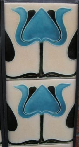 Stylised Art Nouveau Fireplace Tile Set ref 022