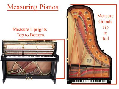 Measuring Grand and Upright Pianos