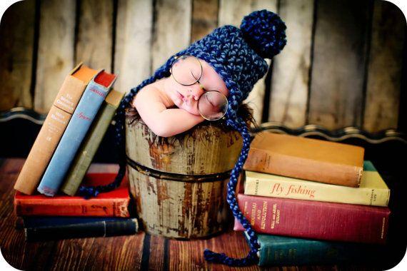 Newborn Photo Prop Baby Boy Hat por MitziKnitz en Etsy