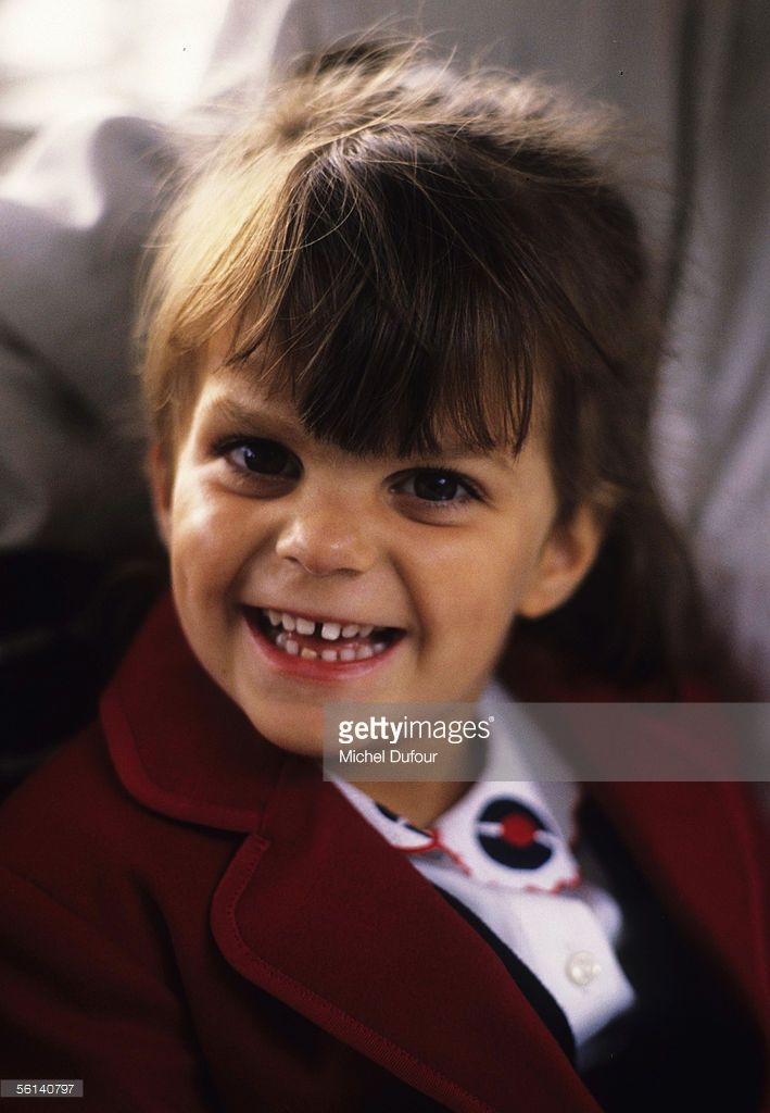 Athina Onassis Roussel, grand-daughter of Greek shipping magnet Aristotle Onassis, smiles for the camera at the Bois de Boulogne in Paris, France.