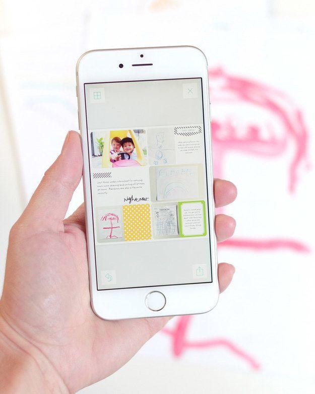 Or keep things digital by downloading a scrapbook app.   28 Beautiful Ways To Display Your Kids' Artwork