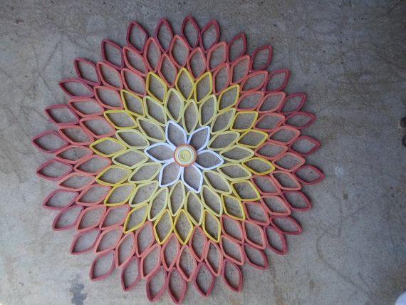 Dalia coral decoración para el hogar contemporáneo arte brillante canario amarillo Living sala dormitorio papel arte pared elegante moda moderna decoración de la pared