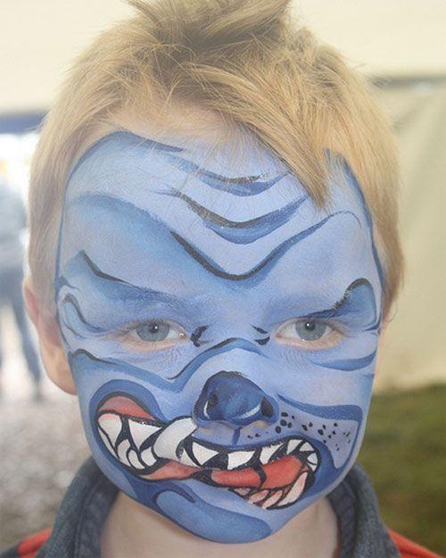 Trucco da mostro per Halloween per bambini