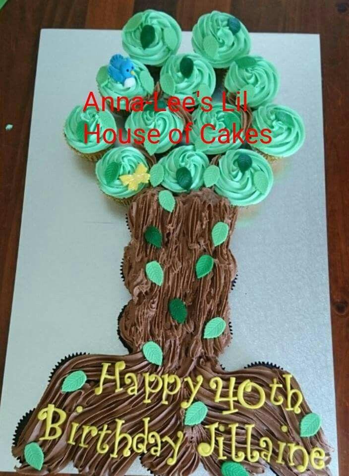 Cupcake Birthday Tree Cake