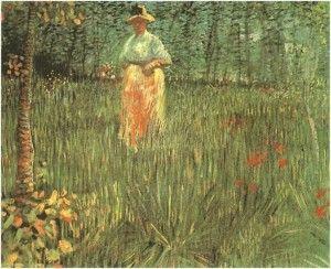 A Woman Walking in a Garden A Woman Walking in a Garden – A Reader's Question http://blog.vangoghgallery.com/index.php/2014/10/03/a-woman-walking-in-a-garden-a-readers-question/