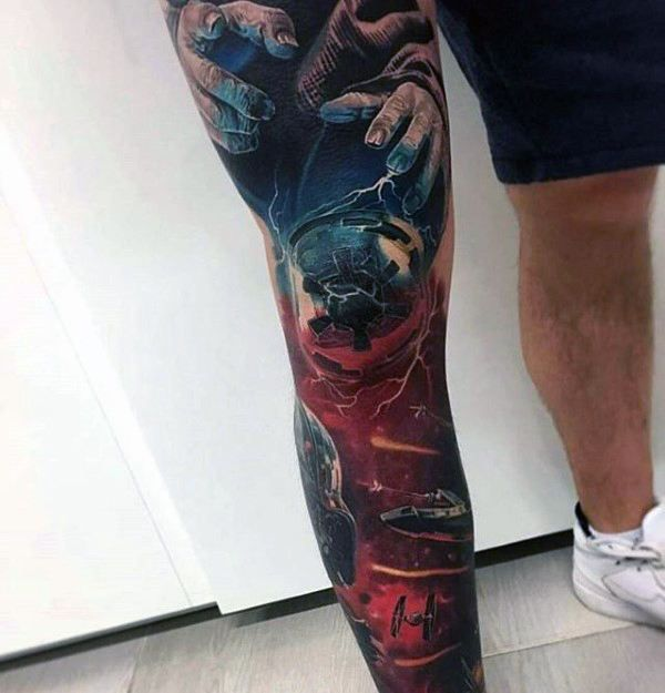 70 Thigh Tattoos For Men: 70 Unique Sleeve Tattoos For Men