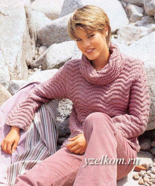 свитер женский вязаный фото