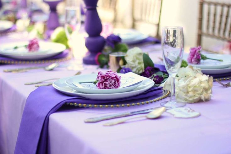 Ombré of Purple Birthday Party Ideas | Photo 2 of 12 | Catch My Party