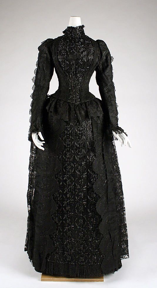 1880's: Evening Dresses, Dresses 1880S, Mourning Dresses, Gowns, Art, 1880 S, Victorian Era, Metropolitan Museums, Vintage Clothing
