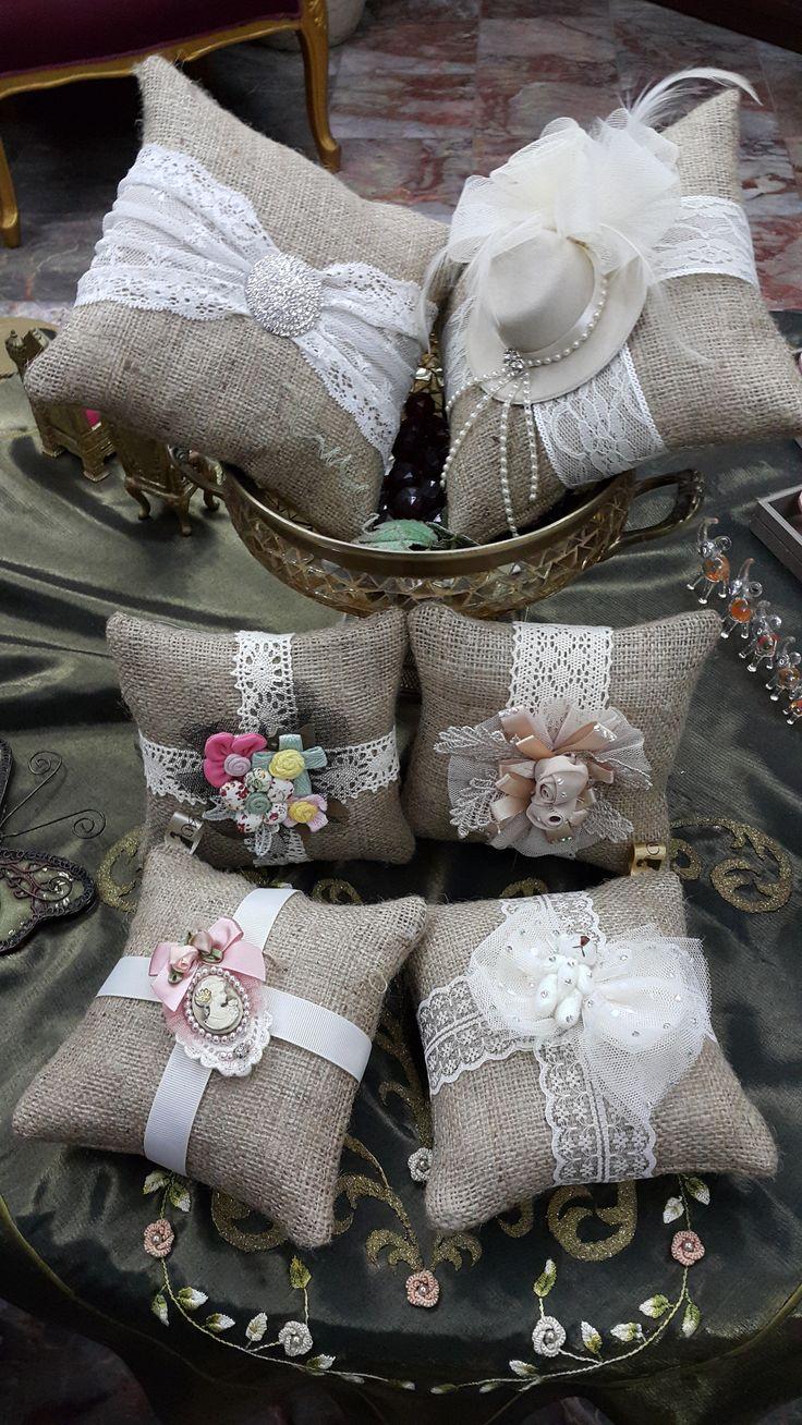 çuval lavanta yastıkları - handmade