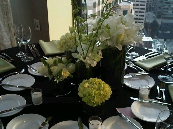 Another multi vase centerpiece we designed more