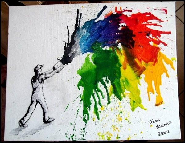 35 Beautiful Examples of Melted Crayon Art