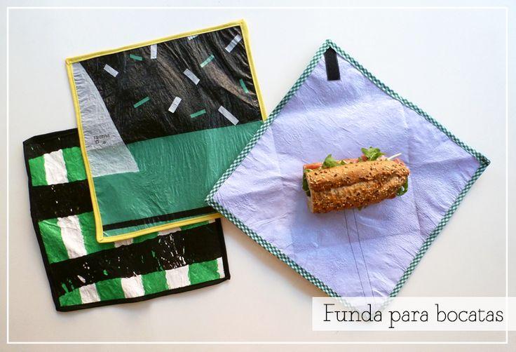fundir bolsas http://diy.2ndfunniestthing.com/2015/09/funda-bocadillo-bolsas-plastico-fundido-diy-reciclado.html